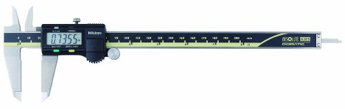 "Mitutoyo 500-164-30 Advanced Onsite Sensor Absolute Scale Digital Caliper, 0-8"" Range, Stainless Steel"