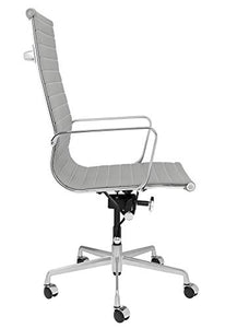 SOHO Tall Back Ribbed Management Chair (Grey)