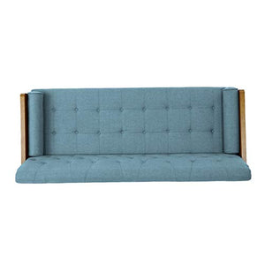 Christopher Knight Home Aidan Mid Century Modern Tufted Fabric Sofa, Blue