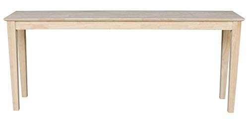 "International Concepts Shaker Console Table - Extended Length-72"", Unfinished"