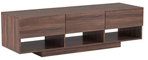"Nexera Rustik 3 Drawers TV Stand, 60"", Walnut"