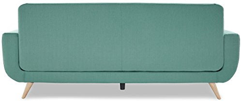 "Homelegance 86"" Fabric Sofa, Teal"