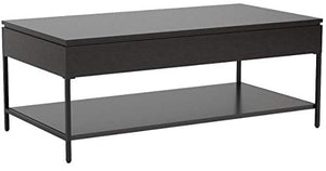 "Amazon Brand – Ravenna Home Heights Wood Lift Top Storage Coffee Table, 43.3""W, Espresso"