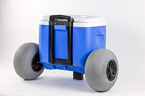 All Terrain Coolers Wheeled Cooler with Inflatable Tires/Perfect for The Beach
