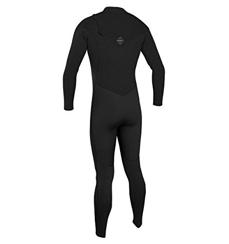 O'Neill Men's Hyperfreak 4/3mm Zipless Full Wetsuit, Black/Black, Large
