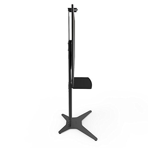 "Kanto STM55PL-S TV Floor Stand with Adjustable Steel Tray for 32"" to 55"" TVs 
