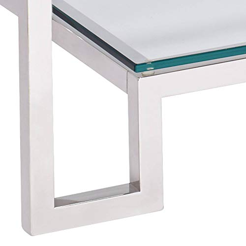 "Krista 47 1/2"" Wide Modern Glass Console Table - Studio 55D"