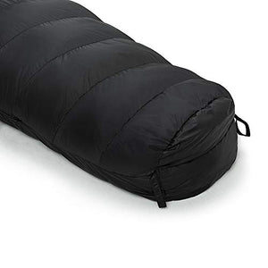 "Easthills Outdoors Bison 15 Degree F 650 Fill Power Down Mummy Sleeping Bag, Ultra Lightweight 3 Season Warm & Cool Weather Camping Sleeping Bag for Men & Women (Long 87"" X 32� Black)"