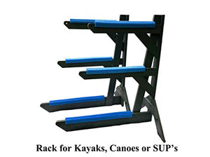 Storage Rack Solutions Indoor or Outdoor Kayak Rack, Canoe Rack, or SUP Rack �Rack in a Box - Holds 3 Units