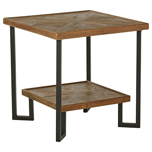Amazon Brand – Stone & Beam Bernice Industrial Reclaimed Fir Wood Side End Table, 20