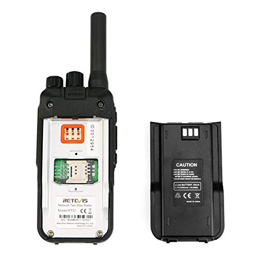 Retevis RT51 4G LTE Network PTT Walkie Talkie Emergency Long Range Two Way Radio Wireless Smart Phone GPS National Coverage with 4200mAh Rechargeable Battery(2 Pack)