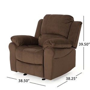 Christopher Knight Home Edwin Gliding Recliner, Chocolate + Black