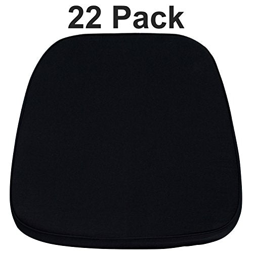Flash Furniture 22 Pk. Soft Black Fabric Chiavari Chair Cushion