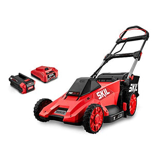 Skil PM4910-10 PWRCore 40 20-Inch 40V Brushless Push Mower Kit Includes 5.0Ah Battery and Auto PWRJump Charger