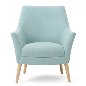 Christopher Knight Home Norre | Mid-Century Modern Fabric Club Chair | in Sky, light Blue