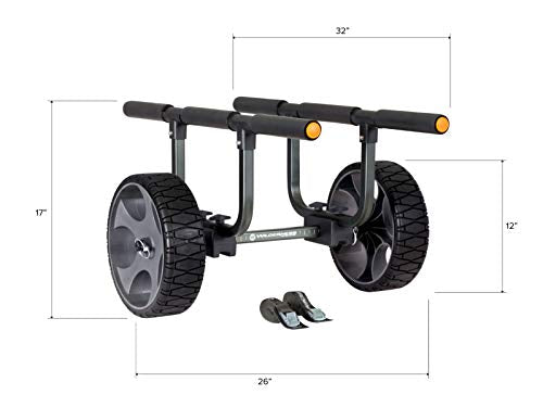 Wilderness Systems Heavy Duty Kayak Cart | Flat-Free Wheels | 450 Lb Weight Rating | for Kayaks and Canoes