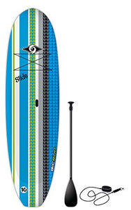 "BIC Sport Slide SUP Stand Up Paddleboard Package, Blue, 10'6"" x 33"" x 205 L"