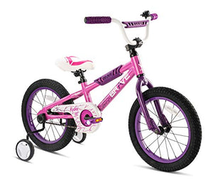 Brave Freestyle BMX Kids Bike for Boys and Girls, 16 inch with Training Wheels, in Multiple Colors. Lightweight Aluminum Frame, Easy to Ride! (Pink)
