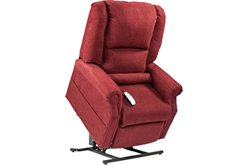 "NM-101 Windermere Mega Motion Ultimate Power Lift Recliner Infinite Position Lay Flat and Zero Gravity Recliner. Duo Motors. Control Foot Rest & Back Separately. Ext Length. 77""(Burgungy)"