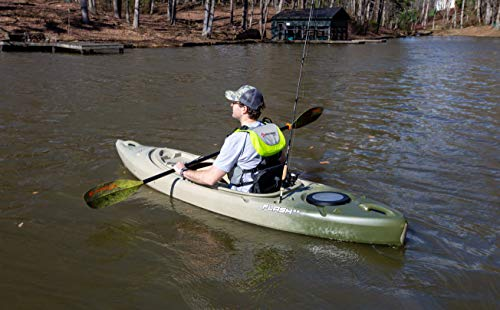 "Perception Kayaks Flash 9.5, Sit Inside Kayak for Fishing and Fun, Two Rod Holders, Multi-Function Dash, 9' 6"", Classic Camo"