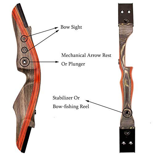 "SinoArt 62"" Takedown Recurve Bow Archery Bow 30-50Lbs (Right Hand 40Lbs)"
