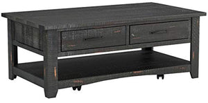 Martin Svensson Home Rustic Coffee Table, Antique Black