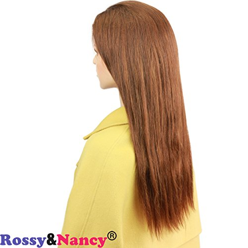 Rossy&Nancy #4 Brown Color Full Lace Wig with Baby Hair Silk Straight Glueless Brazilian Virgin Human Hair Wigs for Black Women 130% Density Pre Plucked Natural Hairline
