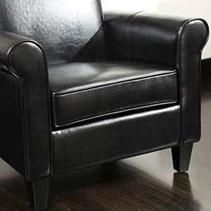Christopher Knight Home Freemont Bonded Leather Club Chair, Black