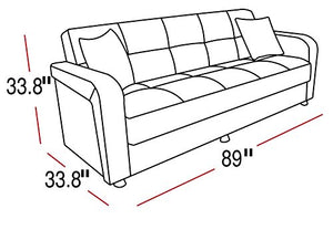 ISTIKBAL Multifunctional Furniture VISION Collection (Sofa Sleeper) DIEGO GRAY