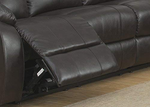 Christies Home Living Troy Sofa & Loveseat Set with Power Recliners Reconstituted Leather, Espresso
