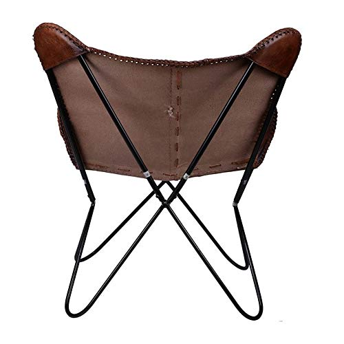 A&B Home Brown Leanter Butterfly Leather Chair