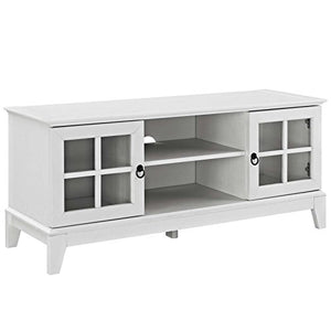 Modway Isle Coastal Contemporary 47 Inch TV Stand in White