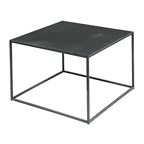 Black Steel Square Coffee Table - 24 inches