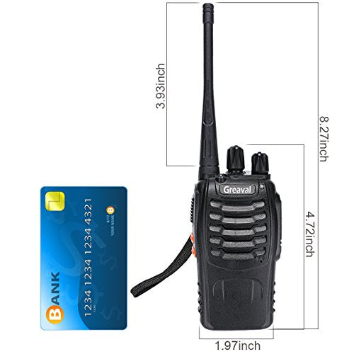 Greaval walkie talkies 10 Pack Rechargeable Two-Way Radios with Earpiece 16 Channel UHF 400-470MHz Charger Included