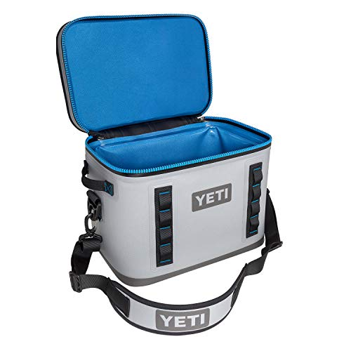 YETI Hopper Flip 18 Portable Cooler, Fog Gray/Tahoe Blue