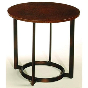 Beaumont Lane Round End Table in Copper