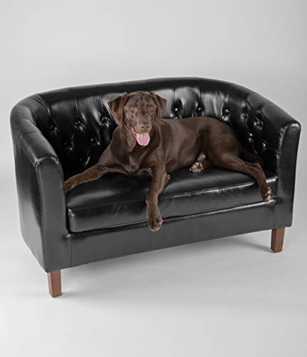 Flash Furniture HERCULES Colindale Series Black LeatherSoft Tufted Loveseat