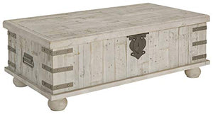 Signature Design by Ashley Carynhurst Lift Top Cocktail Table White Wash Gray