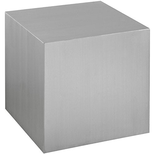 Modway Cast Contemporary Modern Cube Stainless Steel Side Table