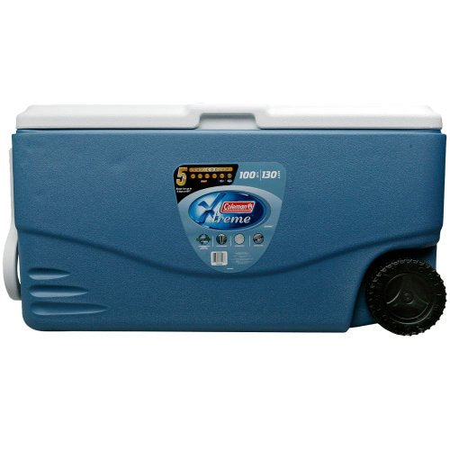 Coleman 100 Quart Xtreme 5 Wheeled Cooler (White)