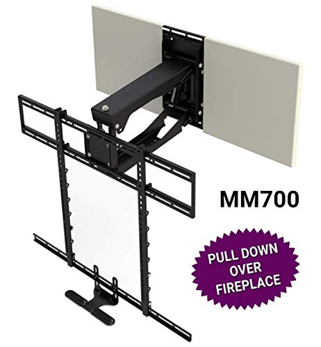 MantelMount MM700 Pro Fireplace TV Mount Pull Down Bracket for 50