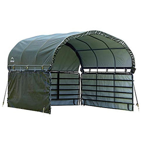 ShelterLogic 12' x 12' Equine, Livestock, and Agricultural Corral Shelter Shade and Enclosure Kit (Corral Panels and Corral Shelter Not Included)