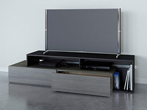 "Nexera Tv Stand, 72"", Bark Gray/Black"