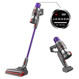 JASHEN V16 Cordless Vacuum Cleaner, 350W Strong Suction Stick Vacuum Ultra-Quiet Handheld Cordless Vacuum Wall Mounted Dual Charging for Carpet Hardwood Floor Rug Pet Hair
