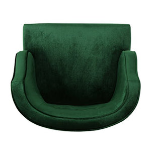 Christopher Knight Home Mariposa Mid-Century Velvet Accent Chair, Emerald / Natural