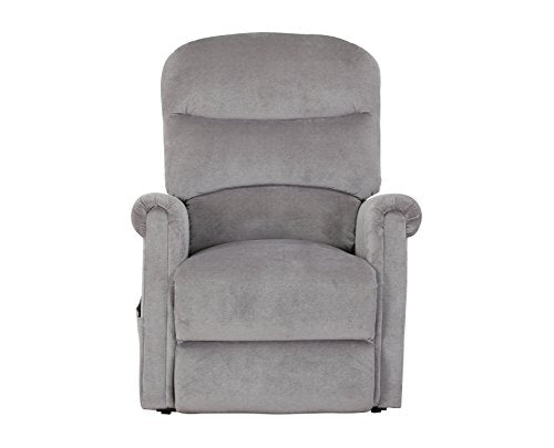 Divano Roma Furniture Classic Plush Power Lift Recliner Living Room Chair, Large, Grey