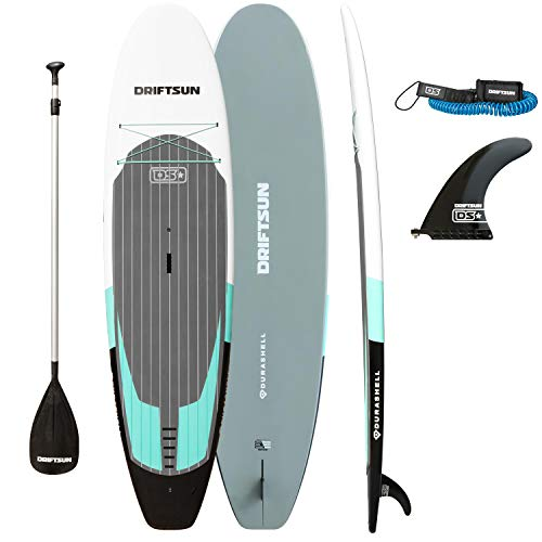 Driftsun Durashell Stand Up Paddleboard 10.5 ft Rigid SUP with Paddle, Fin, and Leash