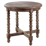 Beaumont Lane Fir Wooden End Table in Brown