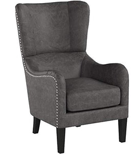 Christopher Knight Home Lorenzo Fabric Hi-Back Studded Chair, Slate