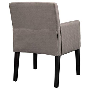 Hawthorne Collections Farmhouse Design Upholstered Fabric Accent/Dining Chair in Gray (Set of 2)